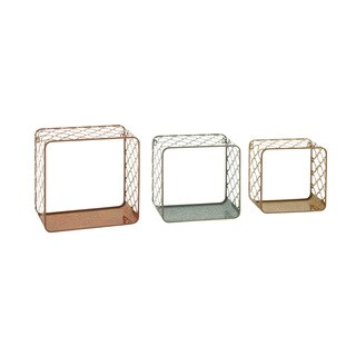 Decorative Metal Wall Shelves (Set of 3)