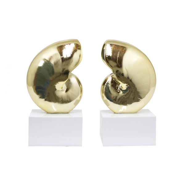 Decorative Resin Nautilus Bookend 15977585