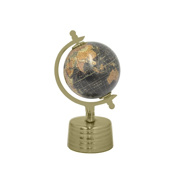 Decorative Black And Gold Globe