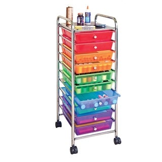 Seville Classics 10-drawer Multicolor Organizer Rolling Cart