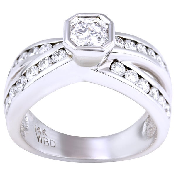14kt wg diamond engagement ring