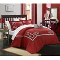 Chic Home Downton Cotton Geometric Applique 8-piece Bed in a Bag Set