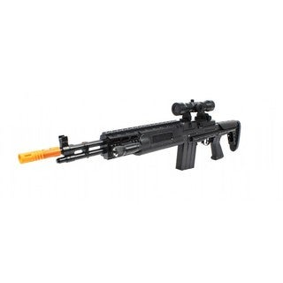Velocity Toys TD-2015 M14 Sniper Rifle Electronic Toy Gun with Collapsible Stock