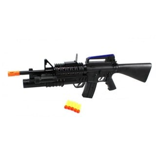 Velocity Toys Ultra-Force M16 Electronic Toy Dart Gun with Grenade Launcher