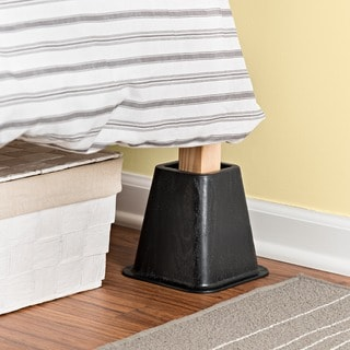 Bed Risers Black (Set of 4)