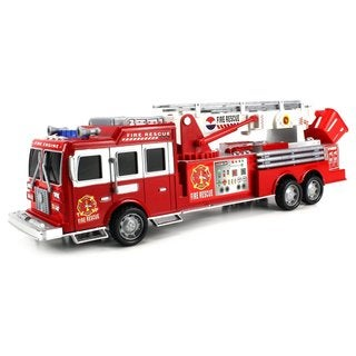 Velocity Toys Top Engine Fire Rescue Friction RTR Toy Truck