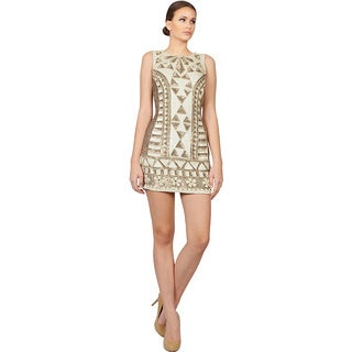 Needle & Thread Gold Beaded Embellished Mini Cocktail Evening Dress