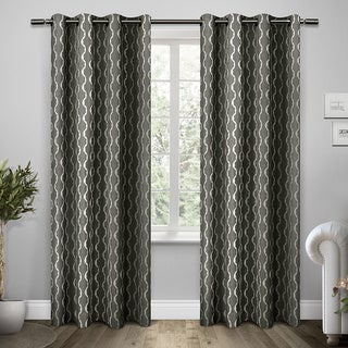 Trellis Grommet Top Curtain Panel Pair