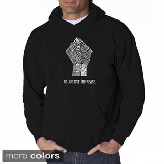 LA Pop Art Men's No Justice, No Peace Hooded Sweatshirt