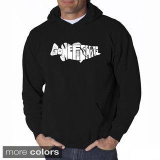 LA Pop Art Men's Gone Fishin' Bass Hooded Sweatshirt