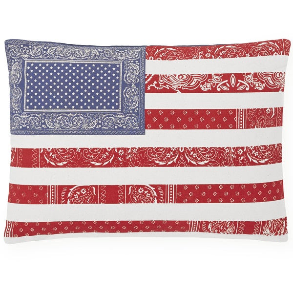 Tommy Hilfiger Red White and Blue 18-inch Decorative Pillow