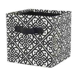 Lace it up Persimmon Storage Bin with Tanner Saxony Handle
