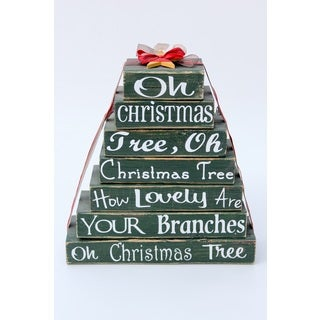 Oh Christmas Tree Stackable Tree Wood Decor Accent