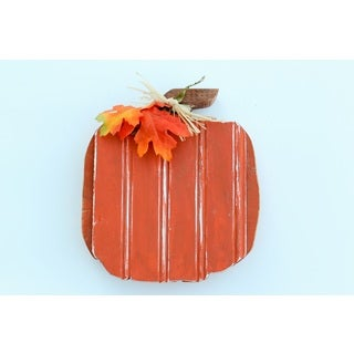Fall Pumpkin Wood Decor Accent
