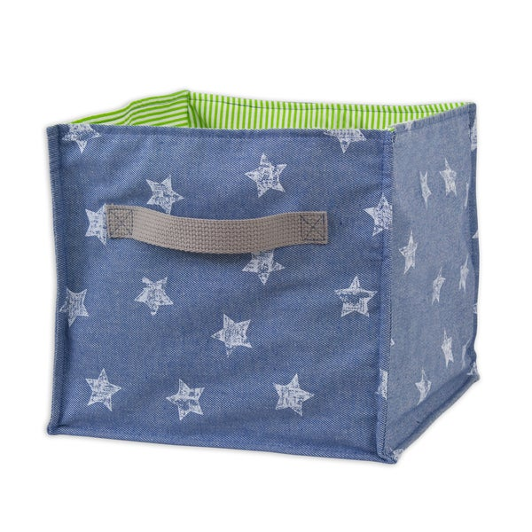 Denim Stars Soft Sided Storage Container with Canvas Handle