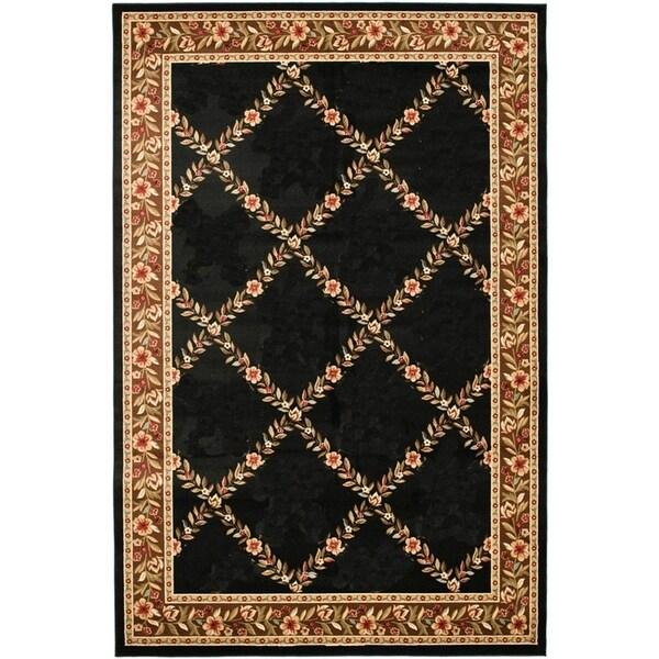 Renaissance Black/Brown Floral Lattice Area Rug (7'10 x 10'10) -  Dynamic Rugs, 2817-097