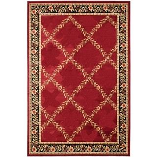 Renaissance Red Floral Lattice Area Rug (7'10 x 10'10)