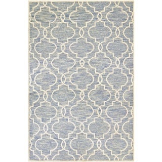 Couristan Madera Doretta/ Light Blue-White Rug (8' x 11')