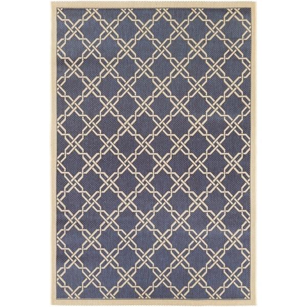 Couristan Five Seasons Sun Island/ Blue-Cream Rug (7'10 x 10'9)