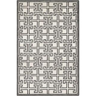 Couristan Madera Alden/ White-Black Rug (8' x 11')
