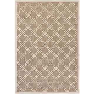Couristan Five Seasons Sun Island/ Grey-Cream Rug (7'10 x 10'9)
