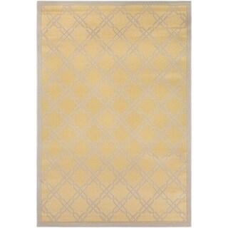 Couristan Five Seasons Sun Island/ Gold-Cream Rug (7'10 x 10'9)