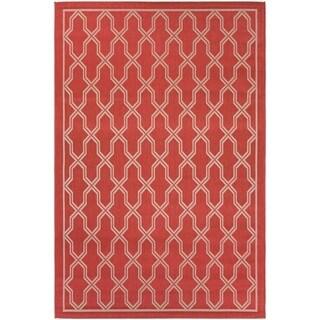 Couristan Five Seasons Crystal Coast/ Red-Cream Rug (9'2 x 12')