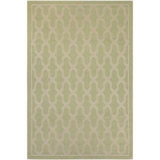 Couristan Five Seasons Crystal Coast/ Green-Cream Rug (7'10 x 10'9)