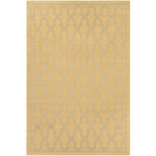 Couristan Five Seasons Crystal Coast/ Gold-Cream Rug (7'10 x 10'9)
