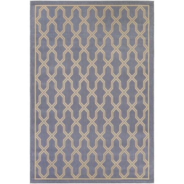 Couristan Five Seasons Crystal Coast/ Blue-Cream Rug (9'2 x 12')