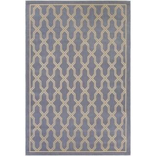Couristan Five Seasons Crystal Coast/ Blue-Cream Rug (7'10 x 10'9)