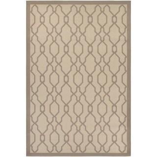 Couristan Five Seasons Byron Bay/ Cream-Grey Rug (7'10 x 10'9)