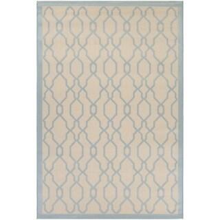 Couristan Five Seasons Byron Bay/ Cream-Blue Rug (7'10 x 10'9)