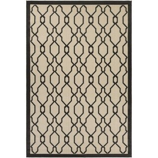 Couristan Five Seasons Byron Bay/ Cream-Black Rug (7'10 x 10'9)