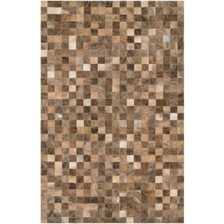 Couristan Chalet Pixels/ Brown Rug (8' x 11'4)