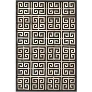 Couristan Chalet Meander/ Black-Ivory Rug (8' x 11')