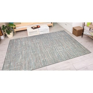 Couristan Cape Falmouth/ Ivory-Coral Rug (7'10 x 10'9)