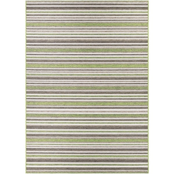 Couristan Cape Brockton/ Hunter Green-Brown Rug (7'10 x 10'9)