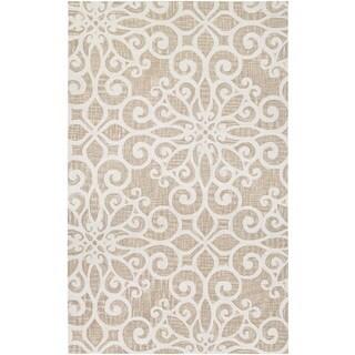 Couristan Bowery Livonia/ Cream-Taupe Rug (7'9 x 10'7)