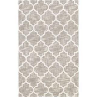 Couristan Bowery Chauncey/ Grey-Ivory Rug (7'9 x 10'7)