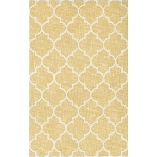 Couristan Bowery Chauncey/ Gold-Ivory Rug (7'9 x 10'7)