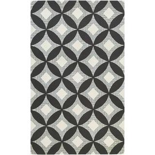 Couristan Bowery Canarsie/ Charcoal-Grey Rug (7'9 x 10'7)