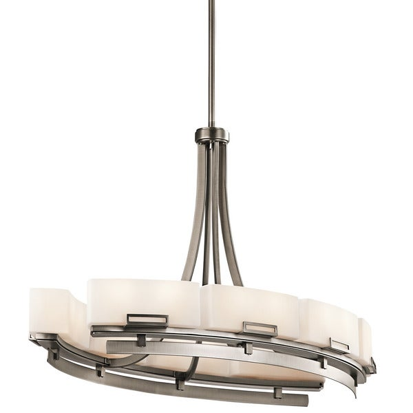Kichler Lighting Leeds Collection 16-light Antique Pewter Oval Chandelier