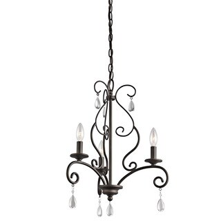 Kichler Lighting Marcele Collection 3-light Olde Bronze Mini Chandelier