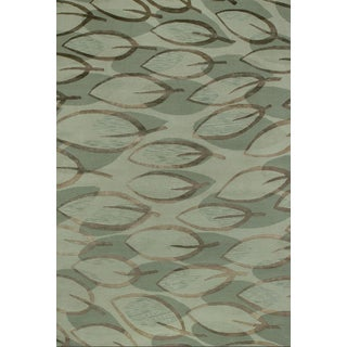 Couristan Impressions Sage Leaf/ Sage-Silver Rug (10' x 14')