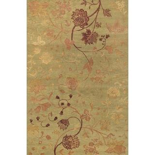 Couristan Impressions Oriental Garden/ Sage-Raspberry Rug (9' x 12')