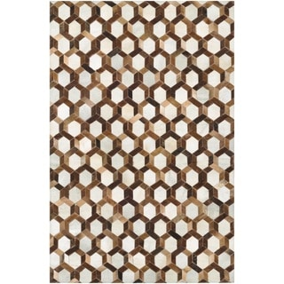 Couristan Chalet Spectrum/ Ivory-Brown Rug (9'4 x 13'4)