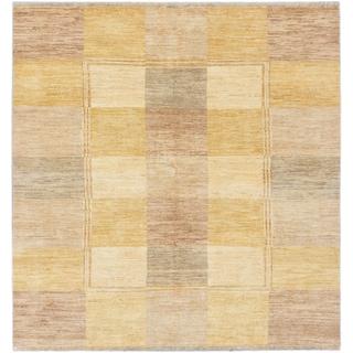 Ecarpetgallery Peshawar Ziegler Cream/ Light Dull Yellow Wool Panel Rug Square (6'7 x 6'8)