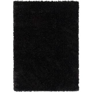 Ecarpetgallery Uptown Midnight Black Solid Shag (3'10 x 5'7)