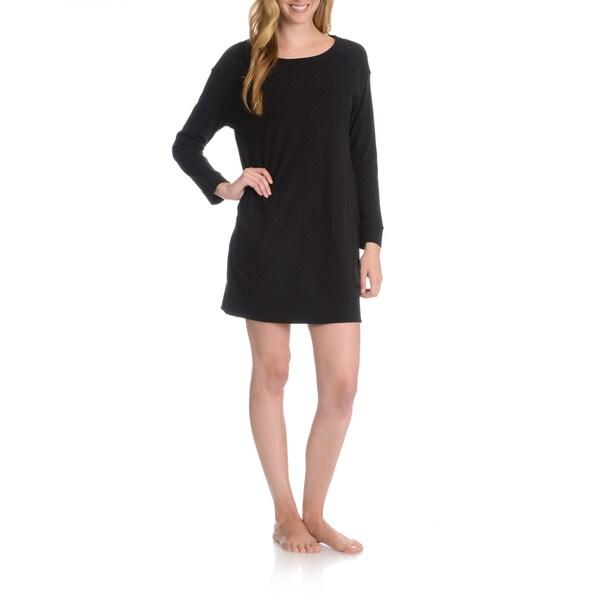 La Cera Women's 3/4 Sleeve Nightshirt 15979763